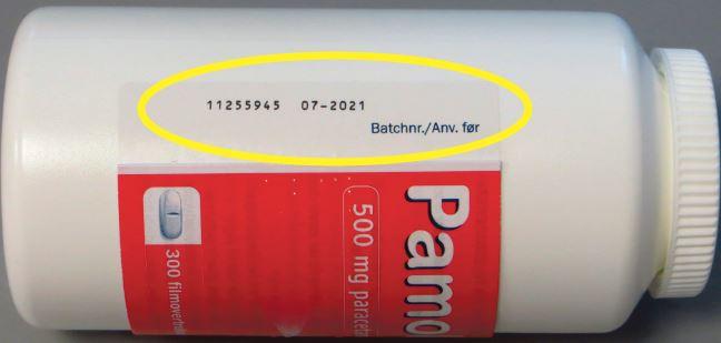 Takeda Pharma A/S tilbagekalder en batch af Pamol® 300 stk. filmovertrukne tabletter