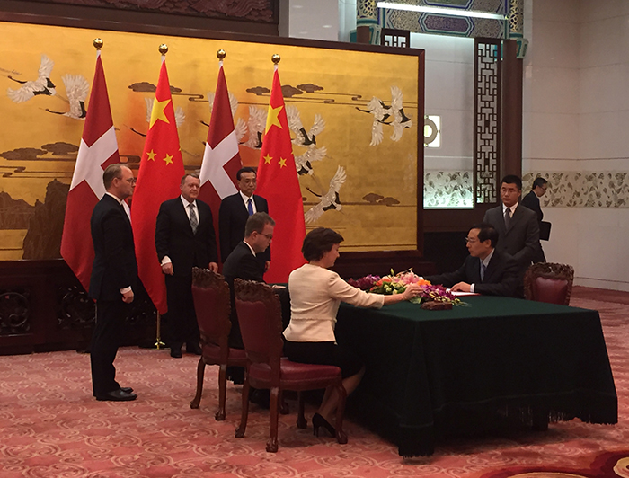 Agreement on Chinese-Danish cooperation signed