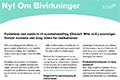 Nyt Om Bivirkninger 27. juni 2013